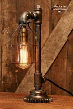 Steampunk Industrial Gear Desk Lamp, #813