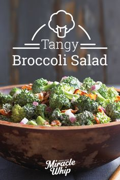 Here's a broccoli salad recipe that's sure to please everyone, with a sweet and tangy dressing and bits of crumbled bacon! Find this and more timeless and tasty treats today at KraftRecipes.com.