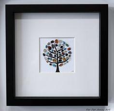 Pebble Art Tree by Rebecca Kate. Far Far Away Art, Etsy. Wishing Tree, Tree of Life, Blossom Tree, Gift for Friend.