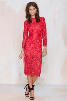 Nasty Gal Because the Night Lace Dress