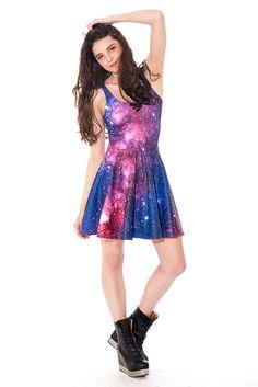 Black milk rainbow galaxy dress mouret