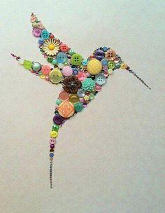 Old Jewelry, Jewelry Crafts, Jewelry Art, Vintage Jewelry, Cute Crafts, Creative Crafts, Art Colibri, Hummingbird Art, Hummingbird Migration