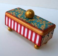 Vintage Circus Hat Pin Box