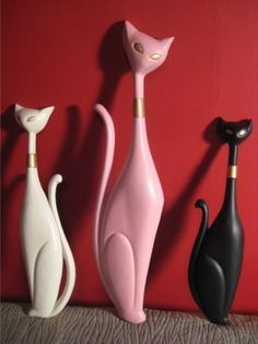 Vintage Mid Century Deco Atomic Madmen Sexton Kitty Cat Wall Hanging Decor 50s | eBay  (They're sold, but they're really cool!)