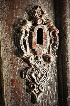 Keyhole of an old mansion door - Hungary