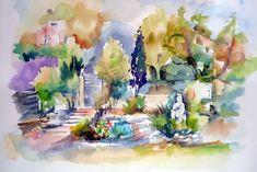 A corner of my garden Corner, Gardens, Painting, Art, Pictures, Painting Art, Garden, Paintings, Kunst
