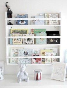 Reading corner and bookshelves for kids room