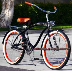 "MEN'S 26"" BEACH CRUISER BIKE, MICARGI ROVER GX RETRO"