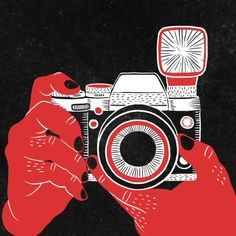 camera, Bloody Dairy by Min Liu, #gif illustration #animation
