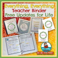 Everything Teacher Binder - Editable