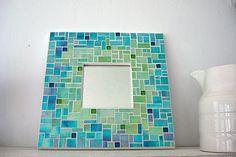 mosaic mirror, CrookedMoonMosaics