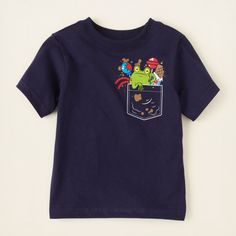 baby boy - graphic tees - pocket graphic tee | Children's Clothing | Kids Clothes | The Children's Place $5