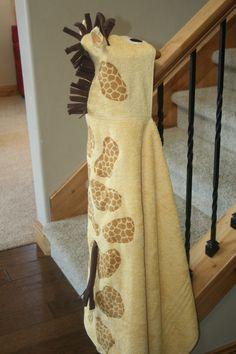 Giraffe Hooded Towel