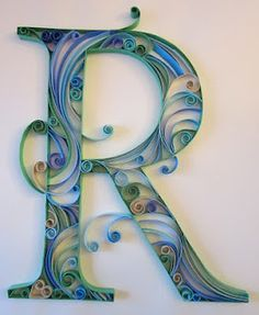 quilling letters tutorial