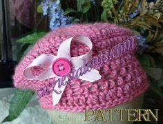 (4) Name: 'Crocheting : Crochet Girls Visor Hat
