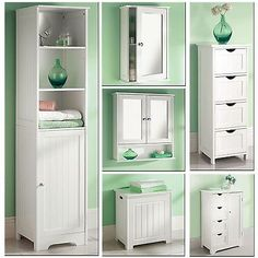White wooden bathroom cabinet #shelf cupboard bedroom #storage unit free #standin,  View more on the LINK: http://www.zeppy.io/product/gb/2/371802330739/