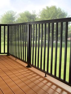 Diy Aluminum Railing System Stair Railing Black With