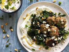 The possibilities are endless with these simple, baked meatballs. By combining lamb and turkey, the meatballs possess that signature, rich flavor of Lamb Recipes, Meatball Recipes, Turkey Recipes, Cooking Recipes, Cooking Tips, Ground Lamb, Ground Turkey, Ground Meat, Easy Mediterranean Recipes