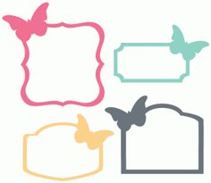 Silhouette Design Store - View Design #57939: set of 4 butterfly labels