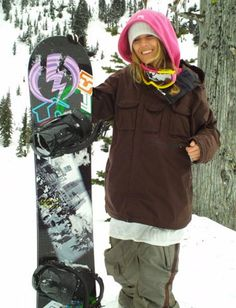 Caley Vanular. Soon to be a big name in women's snowboarding. Luhh her