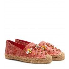 Dolce & Gabbana - Crystal-embellished espadrilles - mytheresa.com