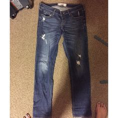 Hollister distressed jeans Hollister distressed jeans size 9R w 29 L 33 Hollister Jeans Skinny