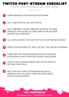 Here's the eight things you should be doing when you are finishing your stream. I notice a lot of streamers (including myself) sometimes just finish their stream by saying bye, thanking everyone and… Twitch Streaming Setup, Game Streaming, Gaming Router, Modem Router, Wireless Router, Wifi Router, Gamer Setup, Twitch Channel, Hd Movies