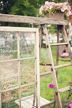 This is table assignments for a wedding, but I would just like it chilling in my back yard.