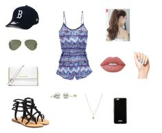 """Untitled #37"" by valeriatrujillog on Polyvore featuring Victoria's Secret, Mystique, Ray-Ban, New Era, MICHAEL Michael Kors, Lime Crime, Pin Show, LC Lauren Conrad and Givenchy"