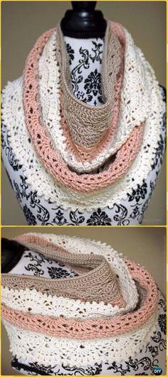 Crochet Shin-yu Infinity Scarf Free Pattern - Crochet Infinity Scarf Free Patterns