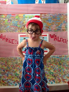 Waldo photo booth at The Book Nook in Brenham, TX for #FindWaldoLocal 2015