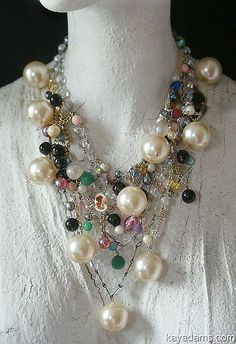 I have got to do a statement necklace similar to this Kay Adams creation.