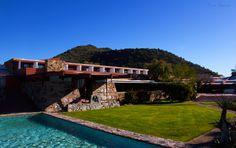 Taliesin West, Frank Lloyd Wright  Scottsdale, Arizona   This was Frank Lloyd Wright's winter homep--Tumblr