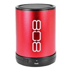 808 Audio SP880 CANZ Bluetooth Wireless Speaker w/3.5mm Auxiliary Jack (Red) - B