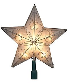 Kurt Adler Christmas Tree Topper, 5-Point Star - Tree Toppers & Finials - Holiday Lane - Macy's