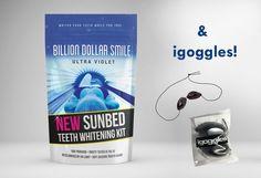 Billion Dollar Smile UV Sunbed Teeth Whitening Kit Non Peroxide + igoggles
