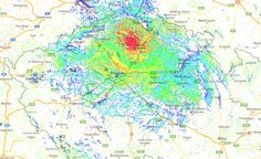 OK0DBZ mapa pokrytí pro vozidlové radiostanice Night, Artwork, Art Work, Work Of Art, Auguste Rodin Artwork