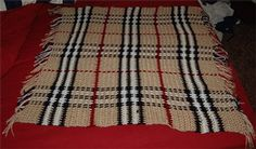 Burberry Baby Blanket :: free plaid crochet pattern!