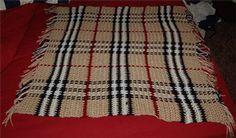Burberry Baby Blanket :: free plaid crochet pattern!