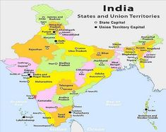 Genuine India Map Hd Pic India Map With Historical Monuments Capitals Of All States State And Capital Of India Map With Marked States India World Map, India Map, India For Kids, Maps For Kids, Daman And Diu, Indian Constitution, Indian Government, States And Capitals, Geography Map