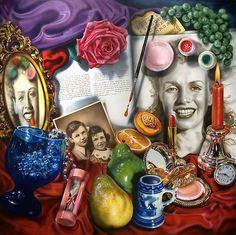 "As a vanitas, ""Marilyn"" serves as a commemorative meditation on th. As a vanitas, ""Marilyn"" serves as a commemorative meditation on the life, death a - Art Pop, Vanitas Paintings, Still Life Artists, A Level Art, Still Life Photography, Art Plastique, American Art, Art Museum, Art History"