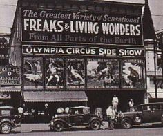 Olympia Circus Sideshow front Coney Island, New York early 1930s