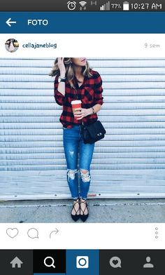 Strappy Flats, Plaid, Shirts, Tops, Women, Fashion, Gingham, Moda, Fashion Styles