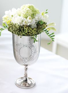 Sterling silver goblet arrangement
