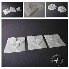 Faire part, invitation et enveloppe en origami