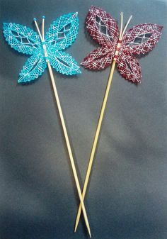 Bobbin Lace, Bobby Pins, Hair Accessories, Tulips, Butterflies, Accessories, Children, Animaux, Easter