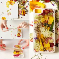 How to DIY Pressed Dried Flower iPhone Case