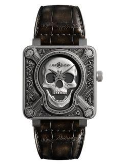 Bell & Ross BR01 Burning Skull Watch