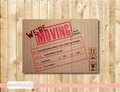 we're moving cardboard box moving by somethingcutedesigns on Etsy, $14.00