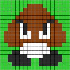 Original Mario Mushroom Perler Bead Pattern | Bead Sprites | Characters Fuse Bead Patterns